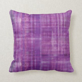 Purple Abstract Stripes Pattern Art Cushion