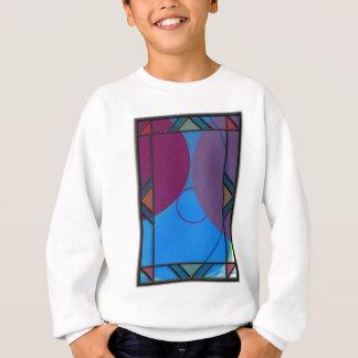 Purple Abstract Sweatshirt