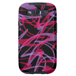 Purple Abstract Swirl Print Galaxy Cases Samsung Galaxy S3 Covers