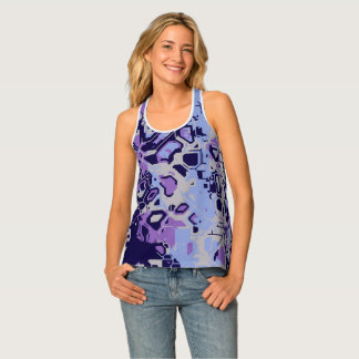 Purple Abstract Tank Top