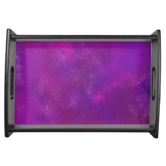 Purple Abstract Texture Serving Tray