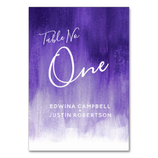 Purple abstract wash modern art table number one