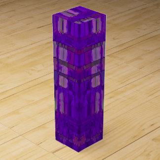 Purple Abstract Wine Gift Box