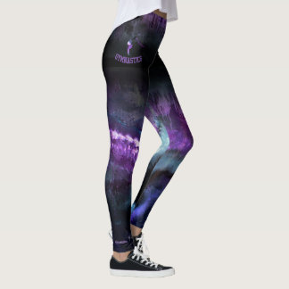 Purple Abstract with fade with gymnast Leggings