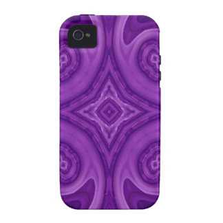 Purple abstract wood pattern Case-Mate iPhone 4 case
