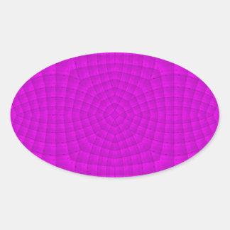Purple abstract wood pattern oval sticker