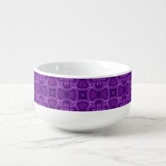 Purple abstract wood pattern soup mug