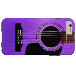 Purple Acoustic Guitar Tough iPhone 6 Plus Case