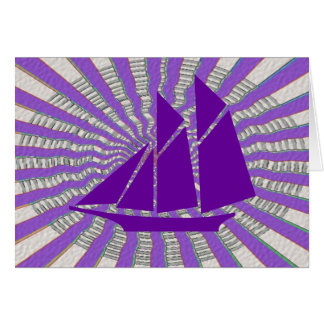 Purple Adventure Sail to Antartica Card