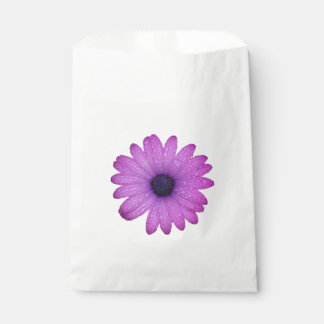 Purple African Daisy with Raindrops Isolated Favour Bag