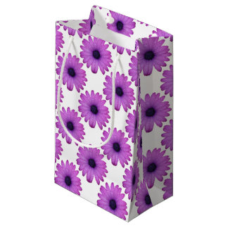 Purple African Daisy with Raindrops Isolated Small Gift Bag