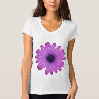Purple African Daisy with Raindrops Isolated T-Shirt