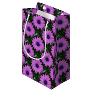 Purple African Daisy with Raindrops Small Gift Bag