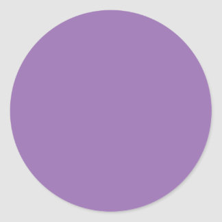 Purple African Violet Trend Color Customized Blank Round Sticker