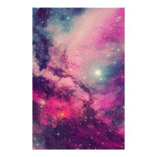 Purple Afterglow Galaxy Stationery
