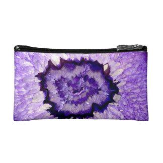 Purple agate cosmetic bag