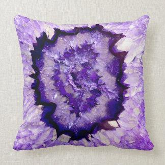 Purple agate cushion