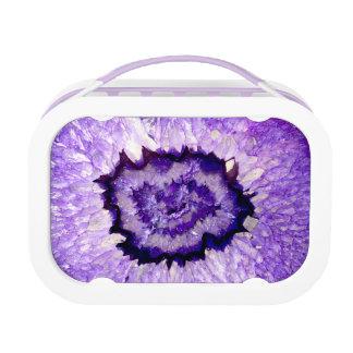 Purple agate lunch box