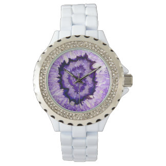 Purple agate watch