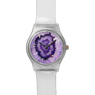 Purple agate wrist watches