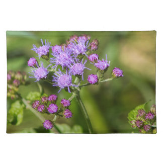 Purple Ageratum Wildflowers Placemat