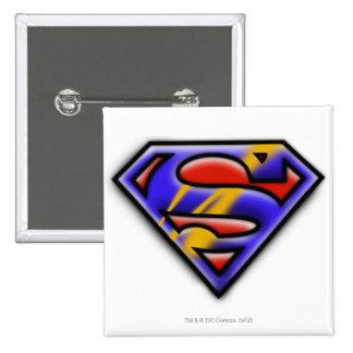 Purple Airbrush Superman Logo 15 Cm Square Badge