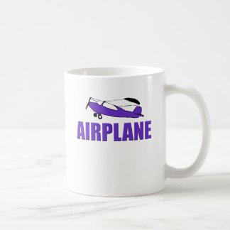 Purple Airplane Basic White Mug