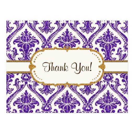 purple-AJR-SDH-DAMASK-WHITE-glitter-NG2.jpg Post Cards