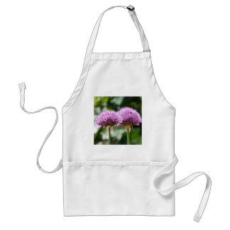 Purple Allium Flower Aprons