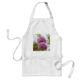 Purple Allium Flower Apron