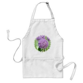 Purple Allium Flowers Apron