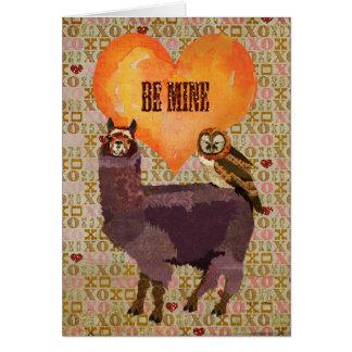 Purple Alpaca & Mums Owl Be Mine Card