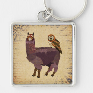 PURPLE ALPACA & OWL Keychain