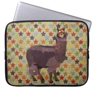 Purple Alpaca Stars Computer Sleeve