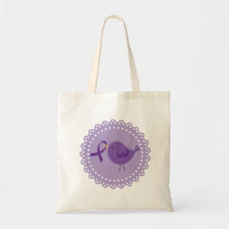Purple Alzheimers Bird Awareness Tote Gift