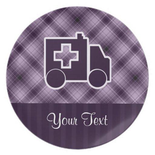 Purple Ambulance Plates