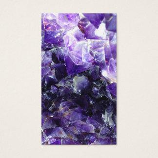 Purple amethyst business card