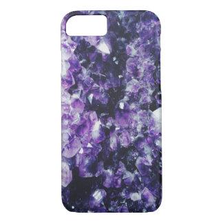 Purple amethyst crystal iPhone 7 case