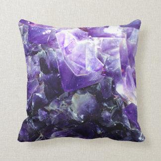 Purple amethyst cushion