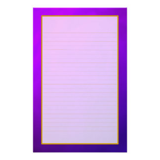 Purple Amethyst Fine Lined Stationery