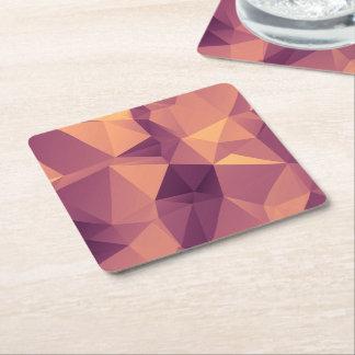 Purple Amethyst fractal pattern template Square Paper Coaster