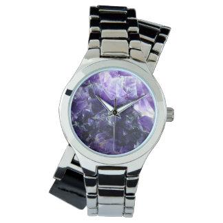 Purple amethyst watch