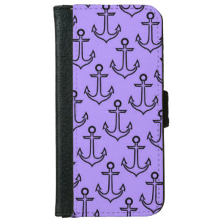 Purple Anchor iPhone 6/6s Wallet Case