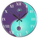 Purple and Aqua  Yin-Yang Clock