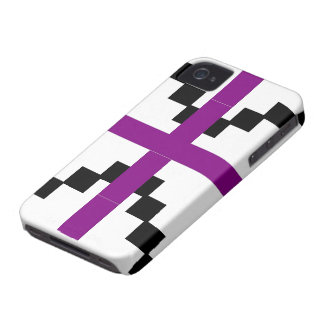 Purple and Black Abstract pattern theme Case-Mate iPhone 4 Case