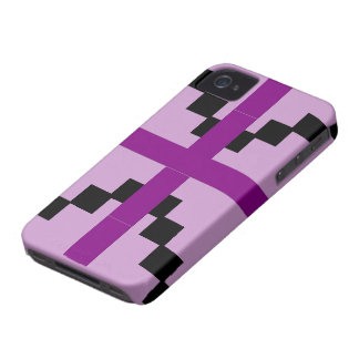 Purple and Black Abstract pattern theme iPhone 4 Case-Mate Case