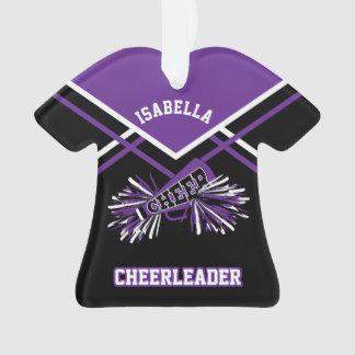Purple and Black Cheerleader Ornament