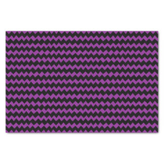 Purple and Black Chevron Stripes Tissue Paper