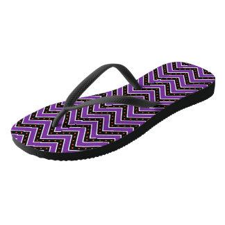 Purple and Black Chevrons Thongs