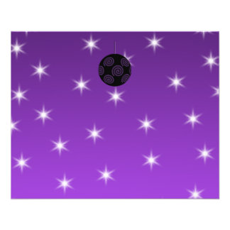 Purple and Black Christmas Bauble. Flyer